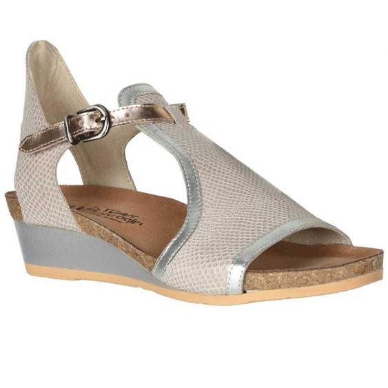 Naot Fiona Beige Lizard Leather/ Silver Luster Leather/ Rose Gold Leather 5042-WBQ (Women's)