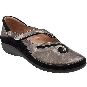 Naot Matai Metal Leather/Black Suede 11410-420 (Women's)
