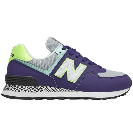 New Balance 574 Virtual Violet/ Bleached Lime Glo WL574CT2 (Women's)