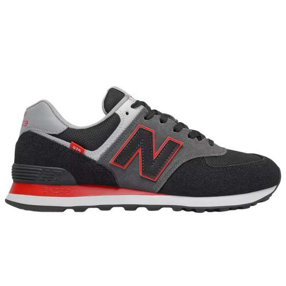 New Balance 574 Black/Velocity Red ML574SM2 (Men's)