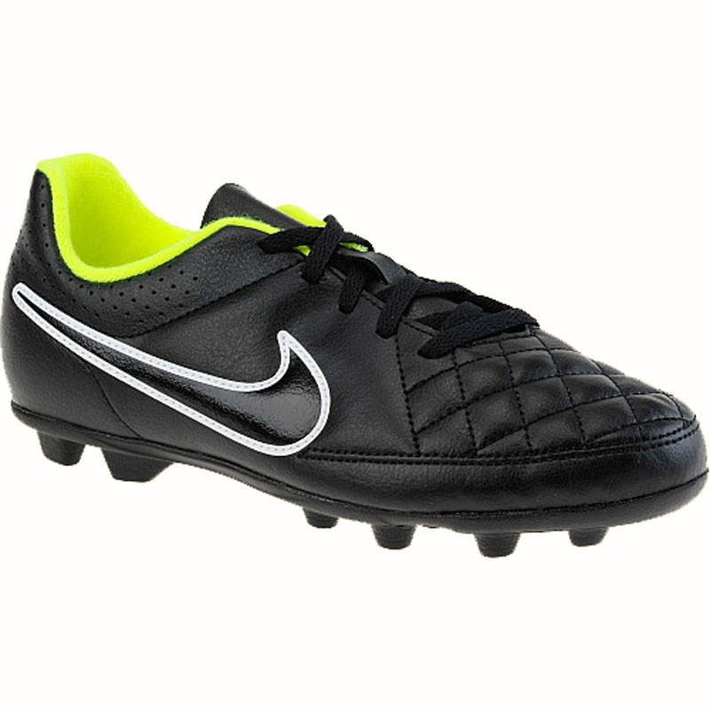 Asco acumular encerrar  Nike Tiempo Rio II FG Black / Volt 631286-017 (Youth)