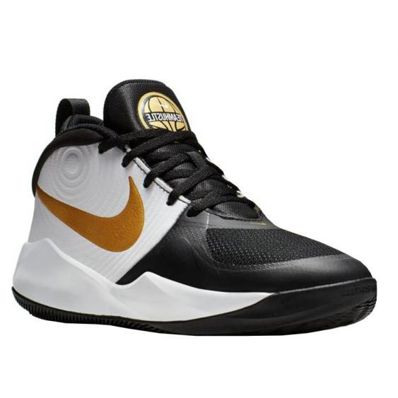 Nike Team Hustle D 9 Black/ Metallic Gold/ White AQ4224-004 (Youth)