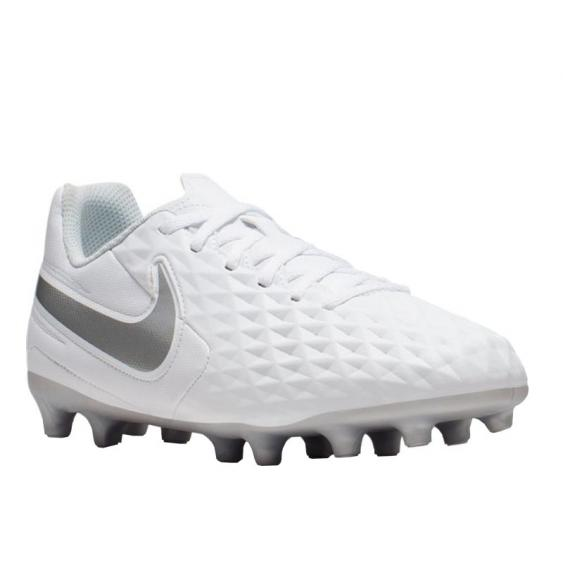 Nike Legend 8 Club FG/MG White/ Chrome/ Grey AT6107-100 (Men's)