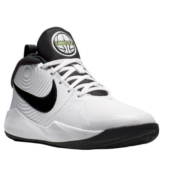 Nike Team Hustle D 9 White/ Black/ Volt AQ4224-100 (Youth)