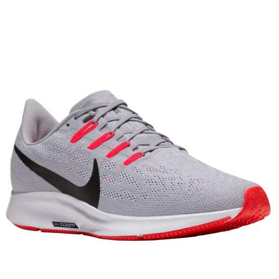 Nike Air Zoom Pegasus 36 Wolf Grey/ Black/ Crimson AQ2203-009 (Men's)
