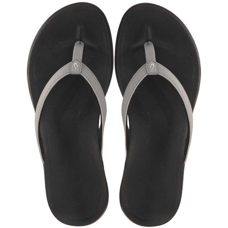 Olukai 20294 1G40 Ho/'opio Cooler Grey Black Women/'s Flip Flops