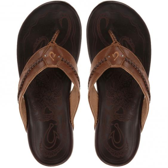 OluKai Mea Ola Tan / Dark Java 10138-3448 (Men's)