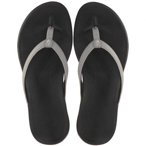 OluKai Ho'opio Cooler Grey/ Black 20294-1G40 (Women's)