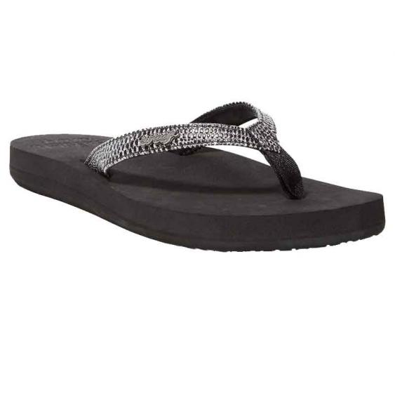 Reef Star Cushion Sassy Black/ Silver RF001384-BLS (Women's)