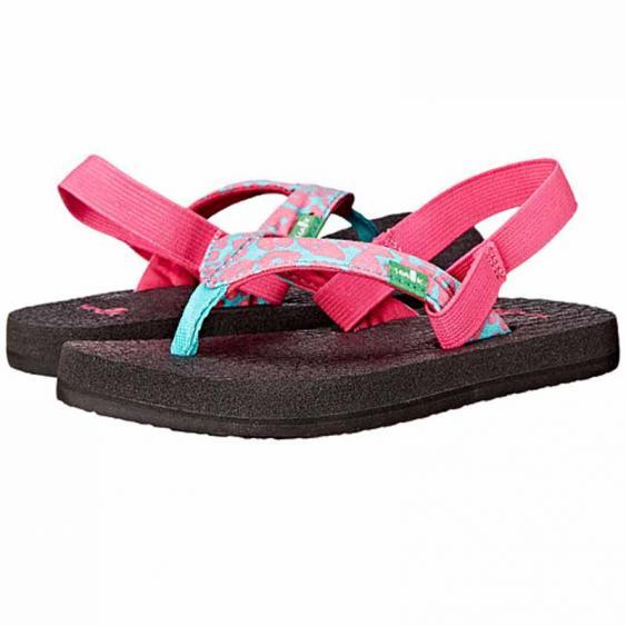Sanuk Yoga Wildlife Pink / Turquoise Cheetah SGS2920T-PTCH (Kids)