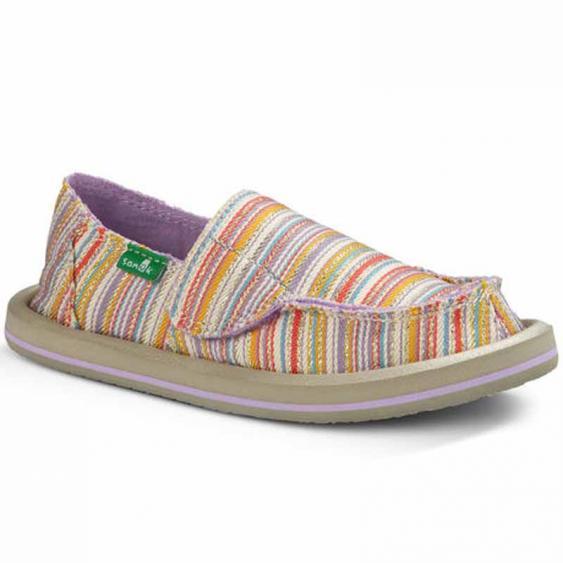 Sanuk Donna Purple / Orange Stripe SGF1055T-POST (Kids)