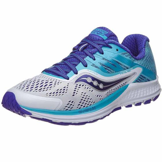 Saucony Ride 10 White / Blue S10373-3 (Women's)