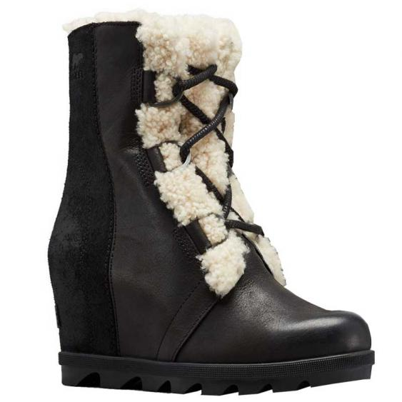 Sorel Joan of Arctic Wedge II Shearling Black 1877081-010 (Women's)