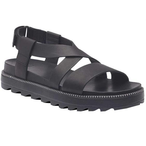 Sorel Roaming Criss Cross Sandal Black 1936571-010 (Women's)