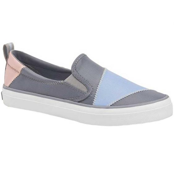 Sperry Crest Twin Gore BIONIC Grey/ Light Blue/ Light Pink STS83717 (Women's)