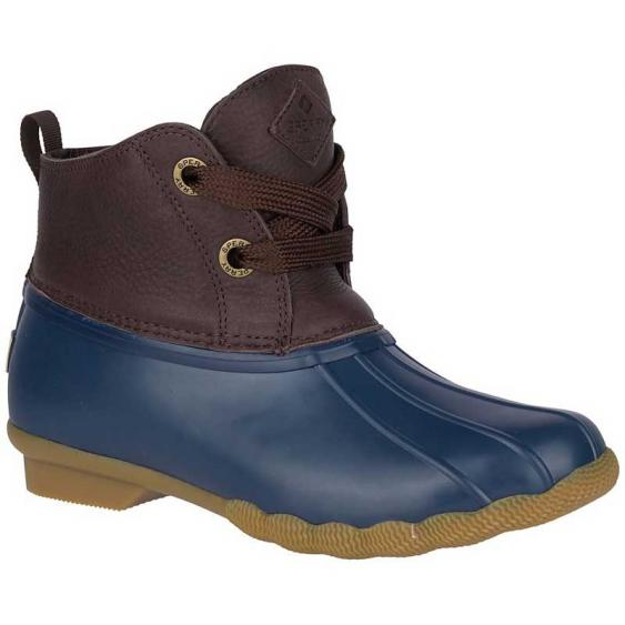 Sperry Saltwater 2-Eye Leather Duck Boot Brown/ Navy STS84825 (Women's)