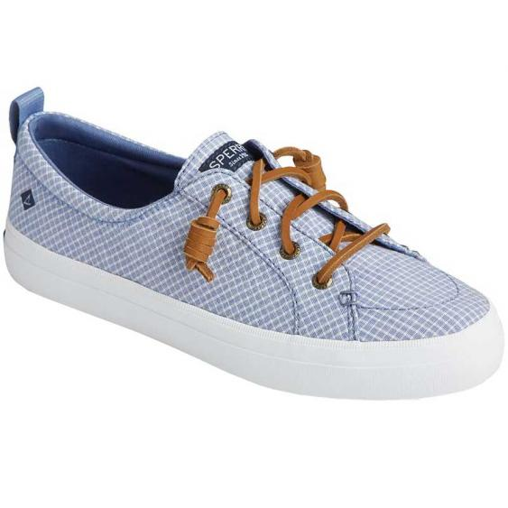 Sperry Crest Vibe Mini Check Blue/ White STS85240 (Women's)