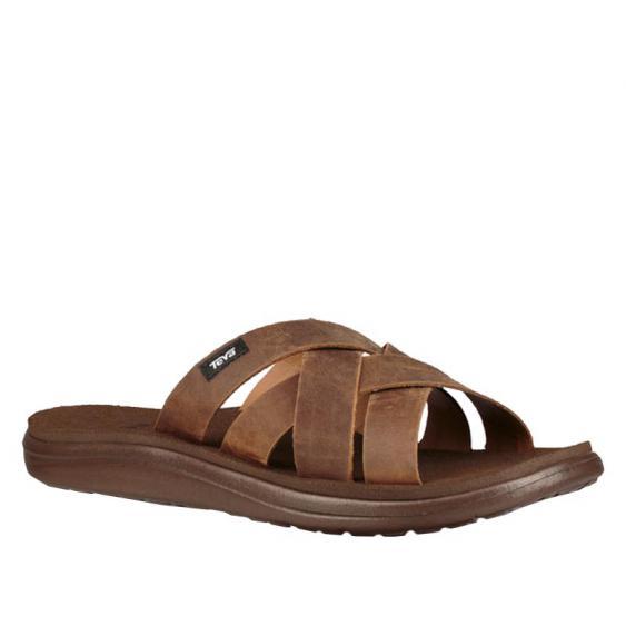 Teva Voya Slide Leather Pecan 1102515-PEC (Men's)