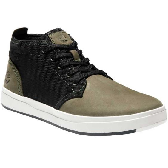 Timberland Davis Square Leather & Fabric Chukka Dark Green/ Black TB0A2J7DA58 (Men's)
