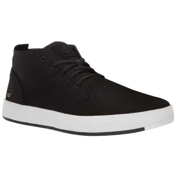 Timberland Davis Square Leather & Fabric Chukka Black TB0A1OI5001 (Men's)