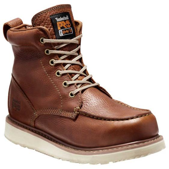 Timberland Pro Wedge 6'' Moc Soft Toe Rust Full Grain TB053009214 (Men's)