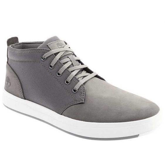 Timberland Davis Square Leather & Fabric Chukka Medium Grey TB0A1SESF49 (Men's)