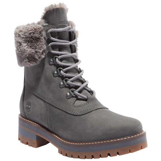 Timberland Courmayeur Valley 6'' WP Faux Fur Medium Grey TB0A2JGMG77 (Women's)