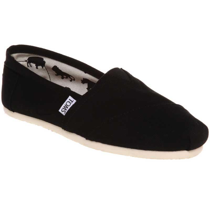 TOMS Shoes Classic Canvas Slip On Black