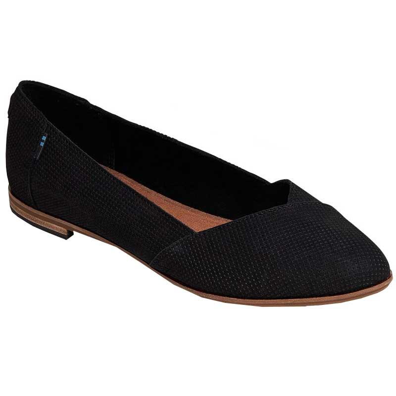 TOMS Shoes Julie Black Suede Perf