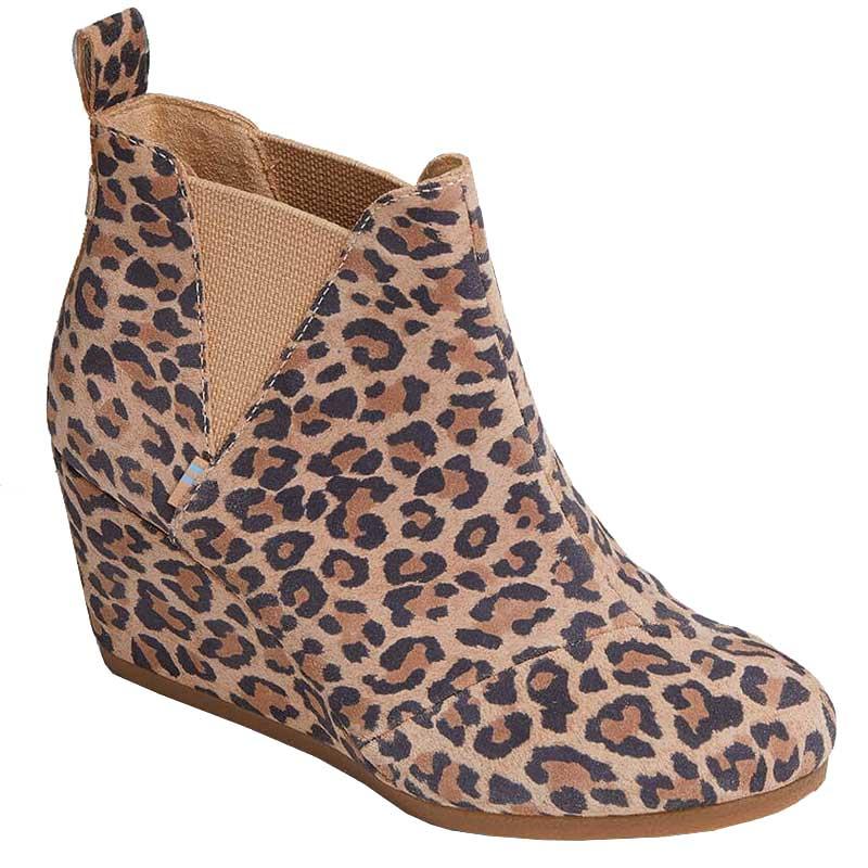 TOMS Shoes Kelsey Desert Tan Leopard