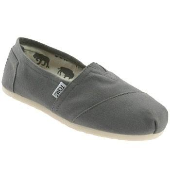TOMS Shoes Classics Canvas Slip On Ash Grey (Women's)