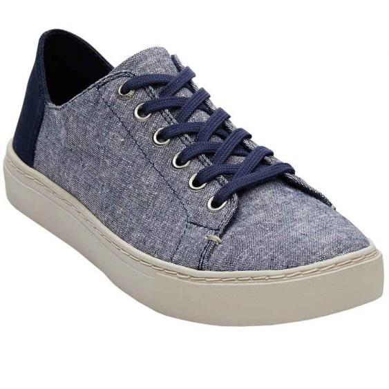 TOMS Shoes Lenox Sneaker Navy Slub Chambray 10010842 (Women's)