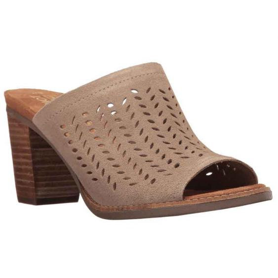 TOMS Shoes Majorca Mule Taupe Suede 10009816 (Women's)