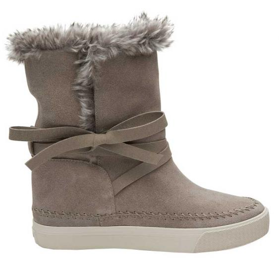 TOMS Shoes Vista Desert Taupe Suede/ Faux Fur 10010900 (Women's)