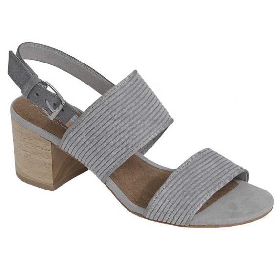 TOMS Shoes Poppy Cement Corduroy 10012491 (Women's)