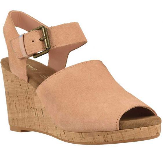 TOMS Shoes Tropez Coral Pink Suede10113383 (Women's)
