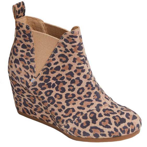 TOMS Shoes Kelsey Desert Tan Leopard 10014153 (Women's)