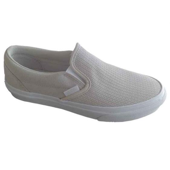 Vans Classic Slip-On Suede Moonbeam/Emboss VN0A38F7U7R (Women's)