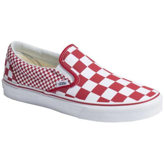 Vans Classic Slip-On Mix Checker Chili Pepper/ True White VN0A38F7VK5 (Men's)
