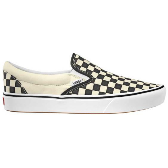 Vans ComfyCush Slip-On Black Checkerboard/ True White VN0A3WMDVO4 (Men's)