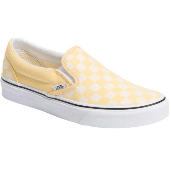 Vans Classic Slip-On Checkerboard Golden Haze/True White VN0A4U38WRZ (Women's)