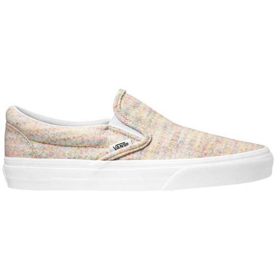 Vans Classic Slip-On Rainbow Jersey Multi/True White VN0A4U38WN5 (Women's)