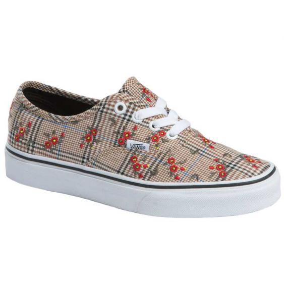 Vans Authentic Glen Plaid Floral Embroidery/True White VN0A348A2NV (Women's)
