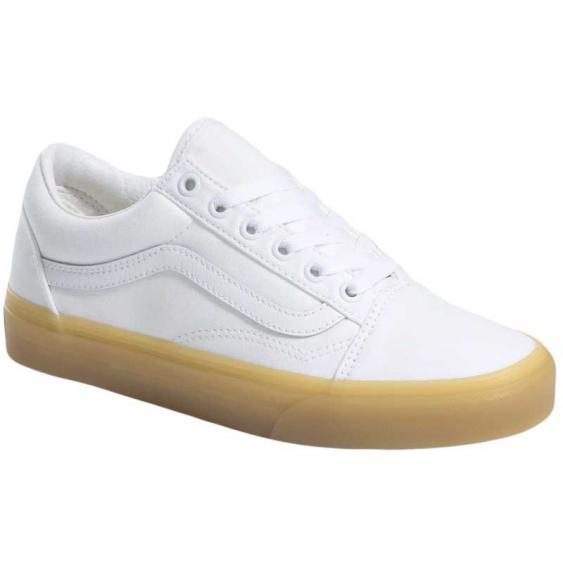 Vans Old Skool (Double Lite Gum) True White/Tinsel VN0A3WKT4FZ (Women's)