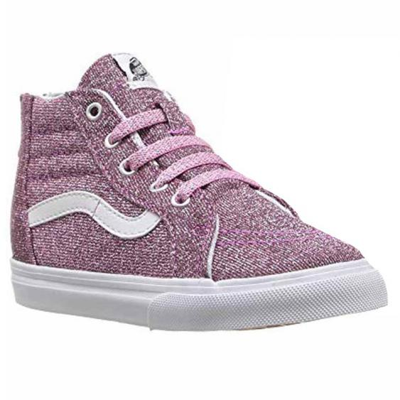 Vans SK-8 Hi Zip Lurex Glitter Pink VN0A32R3U3U (Infant)