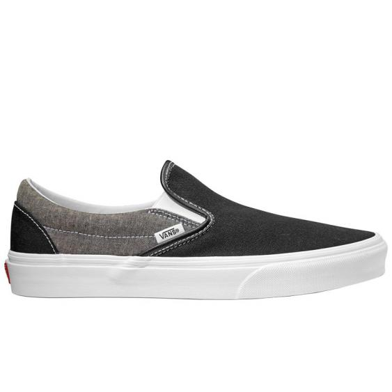Vans Classic Slip-On Canvas Black/ True White VN0A38F7VJ6 (Men's)