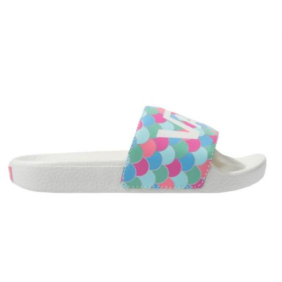 Vans Slide-On JR Marshmallow/ Carmine Rose Scales VN0A45KBVWE (Youth)
