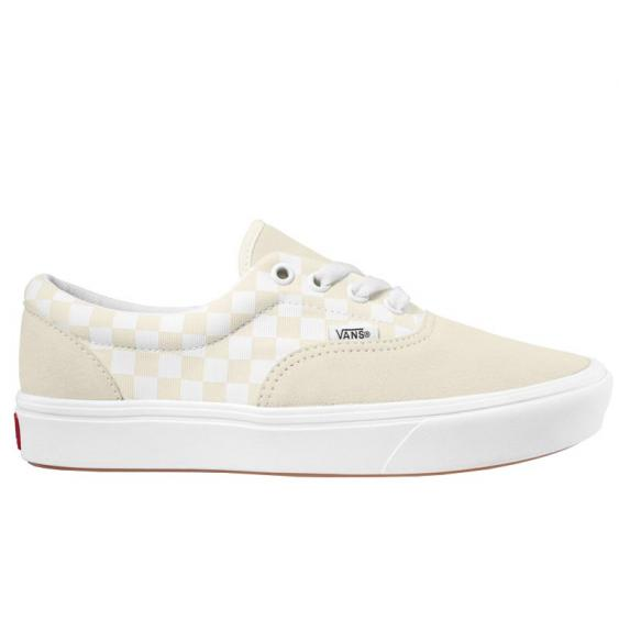 Vans Comfycush Era Checker Marshmallow/ White VN0A3WM9VNK (Women's)