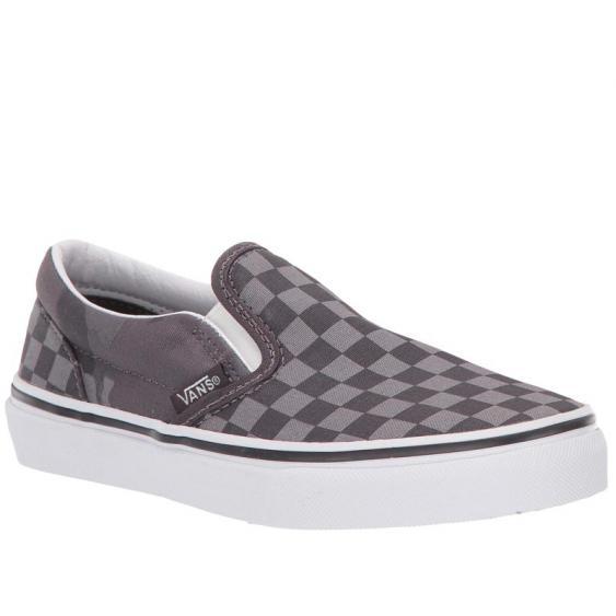 Vans Classic Slip-On Obsidian Tonal Checkerboard/ Camo VN0A4BUTT5K (Youth)
