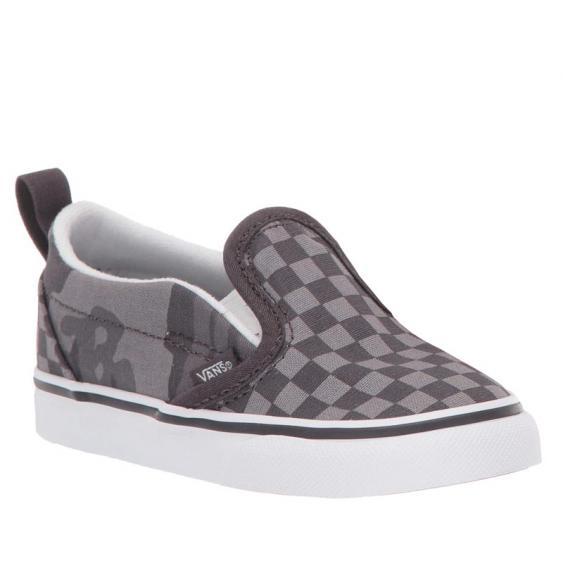 Vans Slip-On V Obsidian Tonal Checkerboard/ Camo VN0A3488T5K (Infant)
